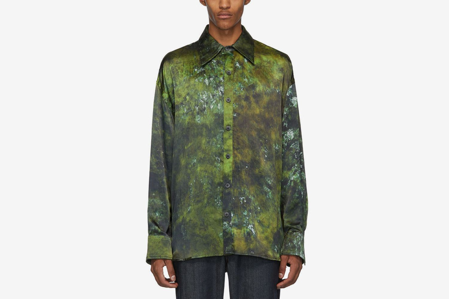 SOTO Hand-Dyed Silk Shirt