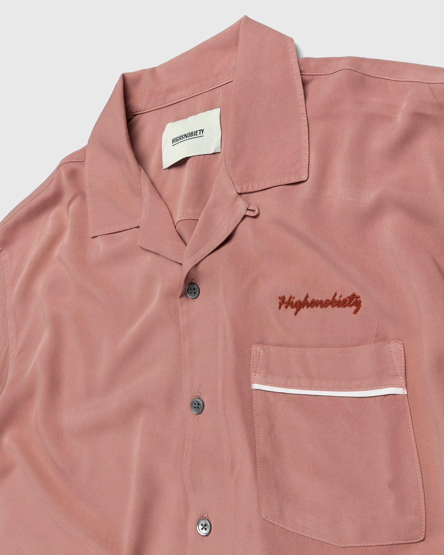 Highsnobiety – Bowling Shirt Mauve - Image 3