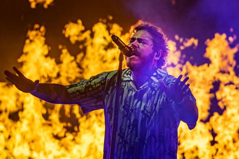 Post Malone performs on stage during Leeds Festival 2019