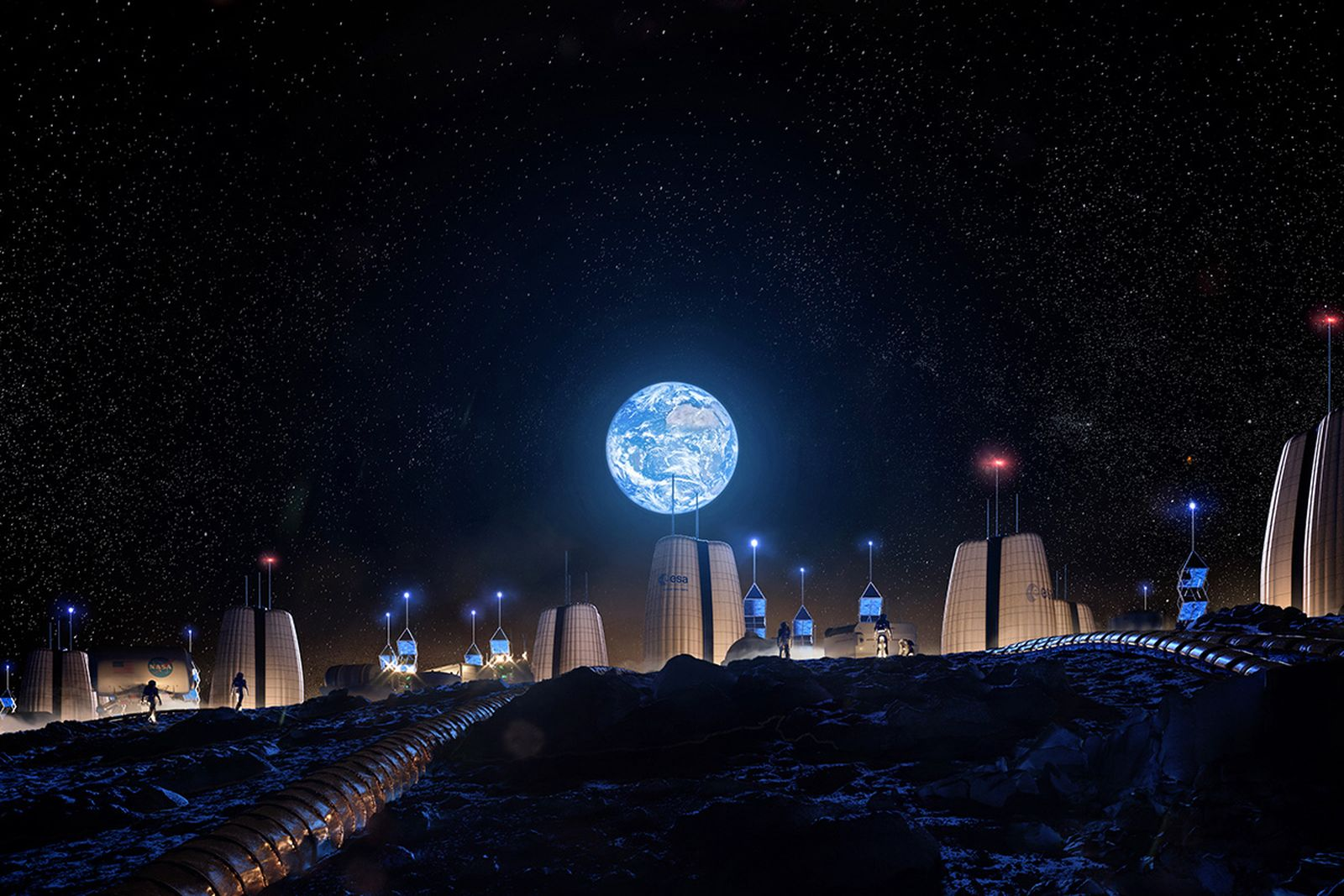 inflatable moon village pictures SOM mit space