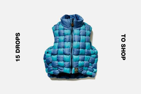 Kapital Japan Woven Vest Blue