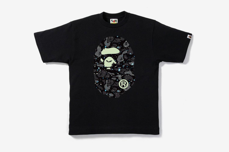Space Camo Big Ape Head T-Shirt