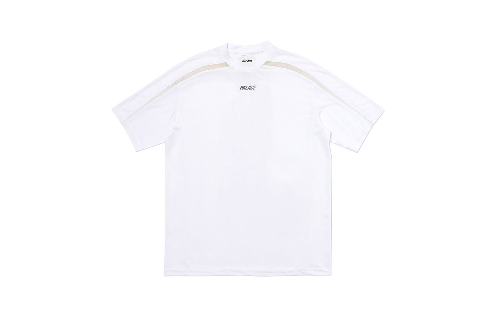 Palace 2019 Autumn T Shirt Stripe Logo white front fw19