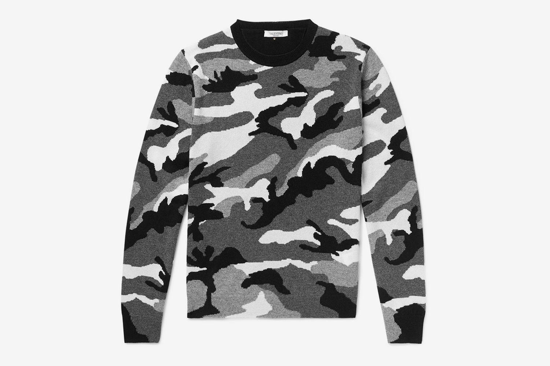Camo Cashmere Sweater
