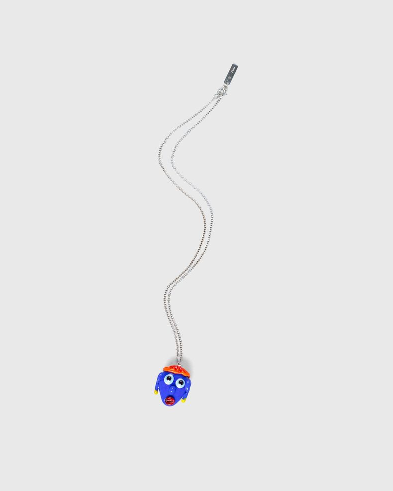 Kenneth Ize x Nita — Graphic Necklace Blue