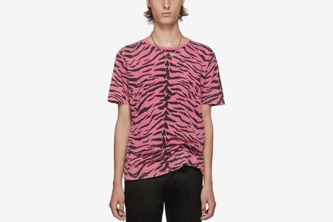 Used-Look Zebra T-Shirt
