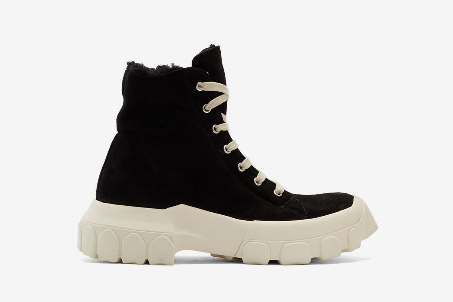 Shearling Tractor Sneaker Boots