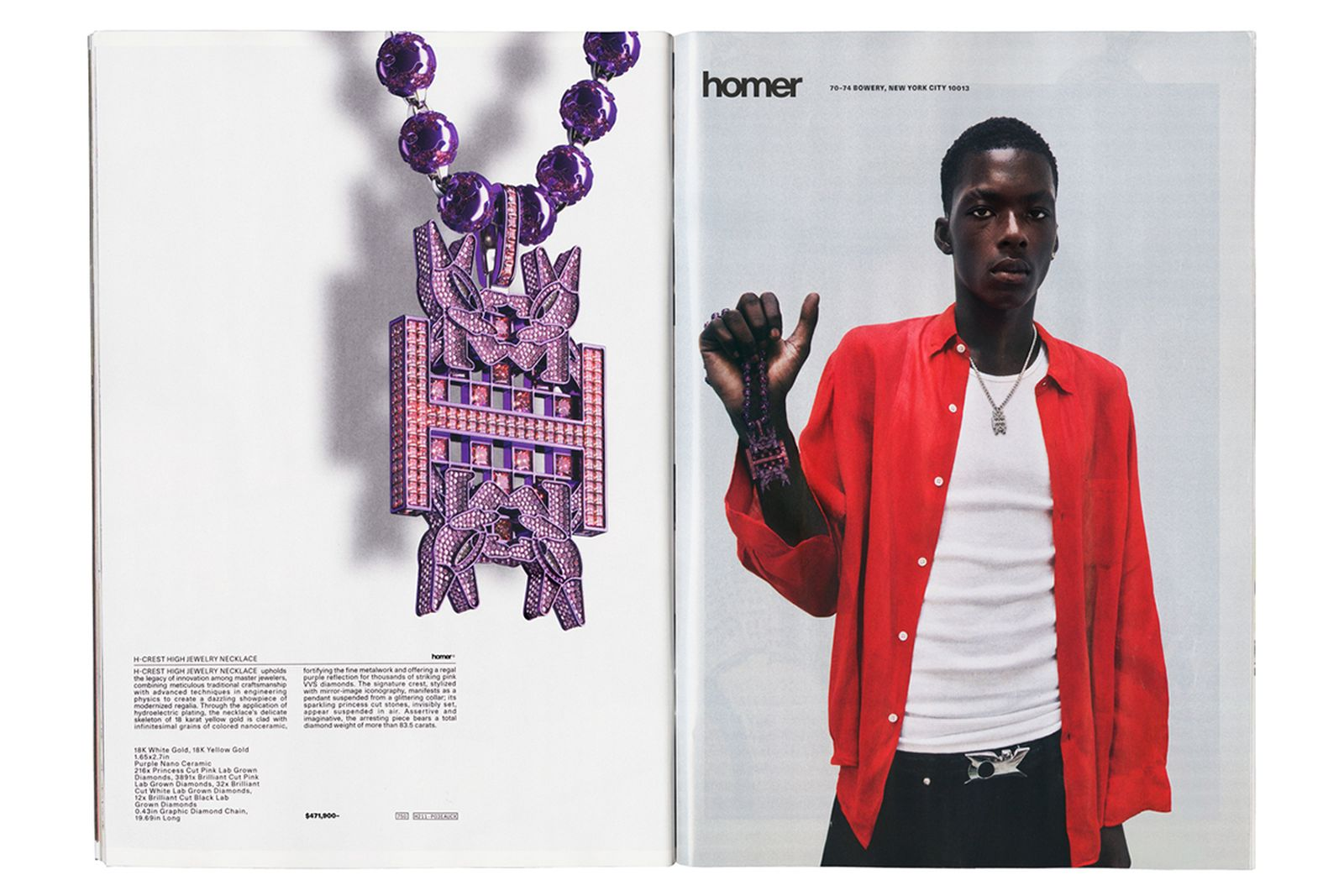 Frank Ocean Homer Brand store Catalog collection jewelry silk scarves necklace h