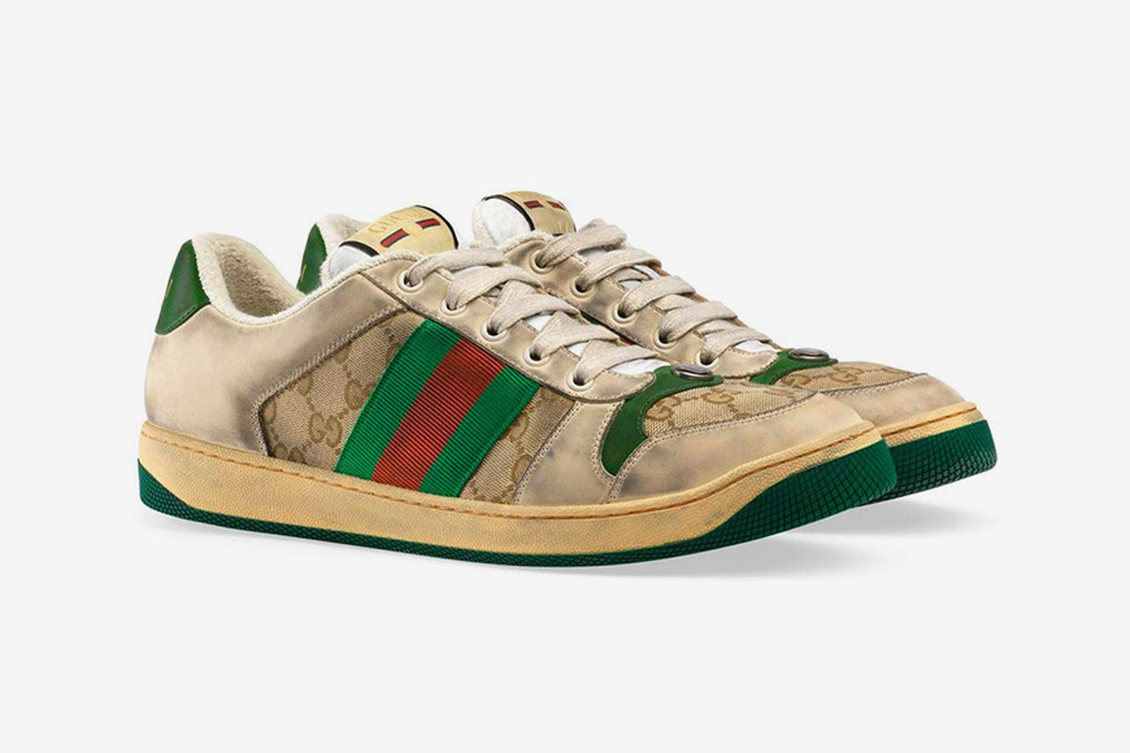 gucci distressed gg sneakers
