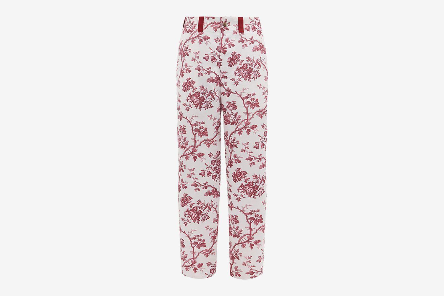 Toile Print Satin Trousers