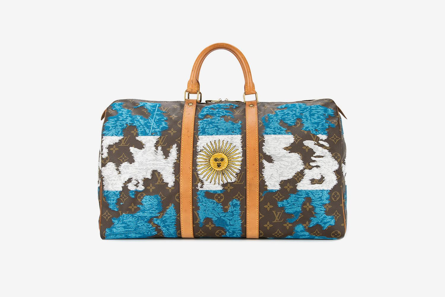 Argentina Flag Vintage Louis Vuitton Keepall