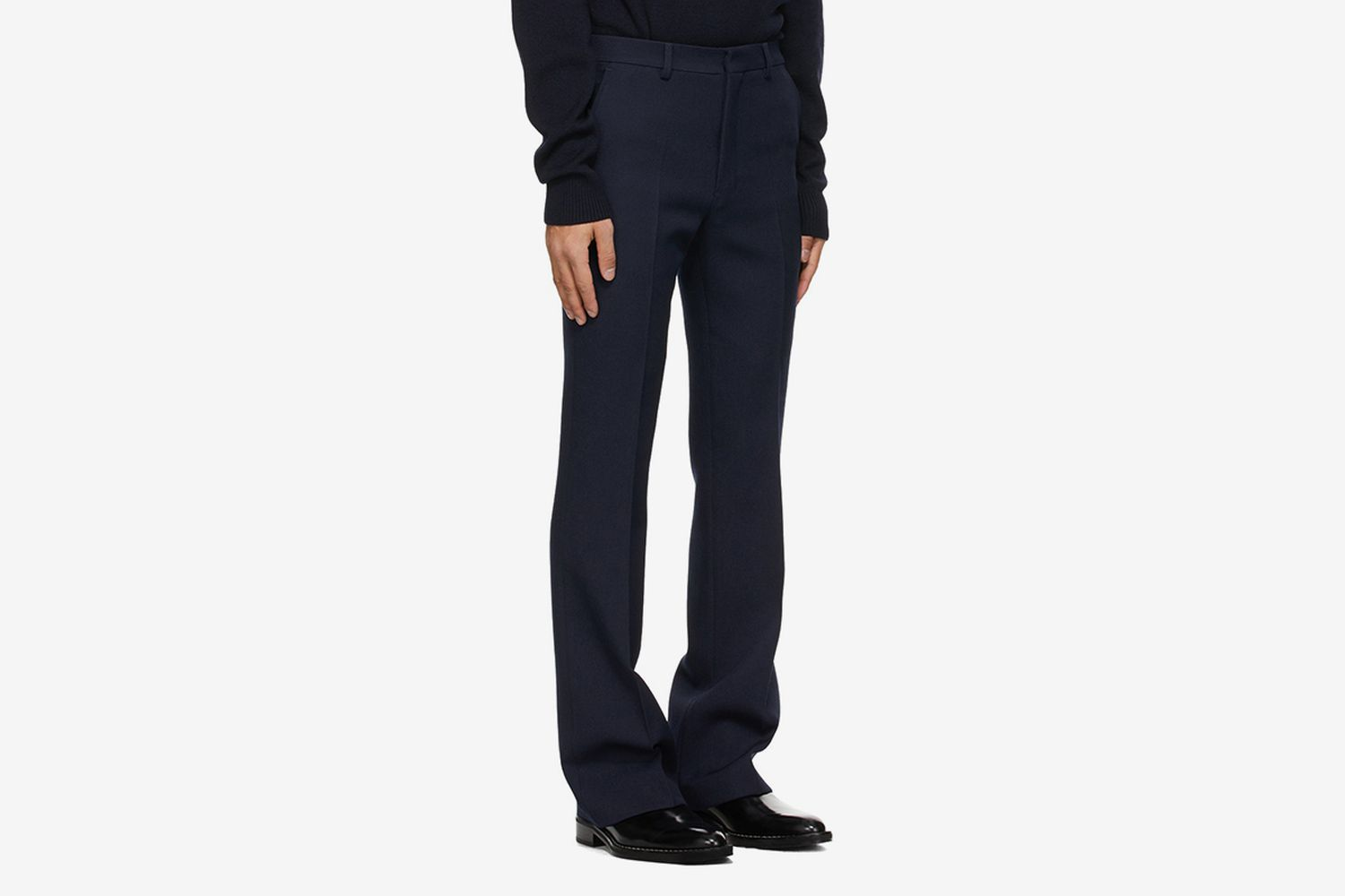 Wool Flared Trousers