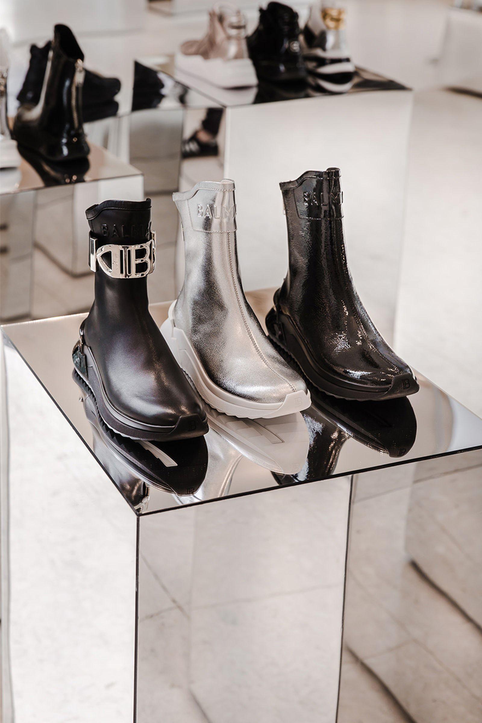 balmain selfridges london sneaker customization pop up