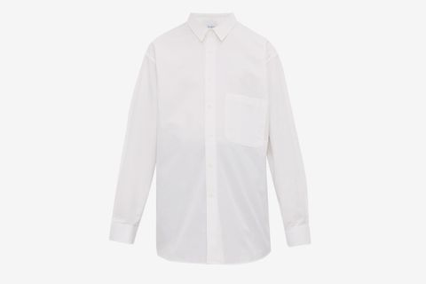 Batwing Sleeve Cotton Shirt