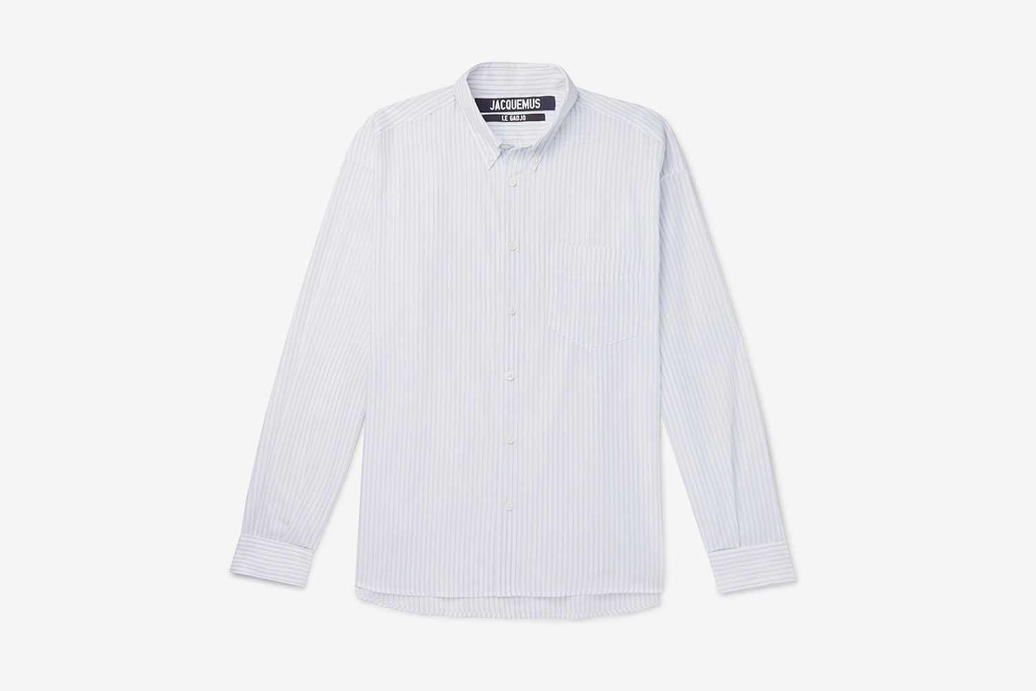 Simon Button-Down Collar Striped Cotton Shirt