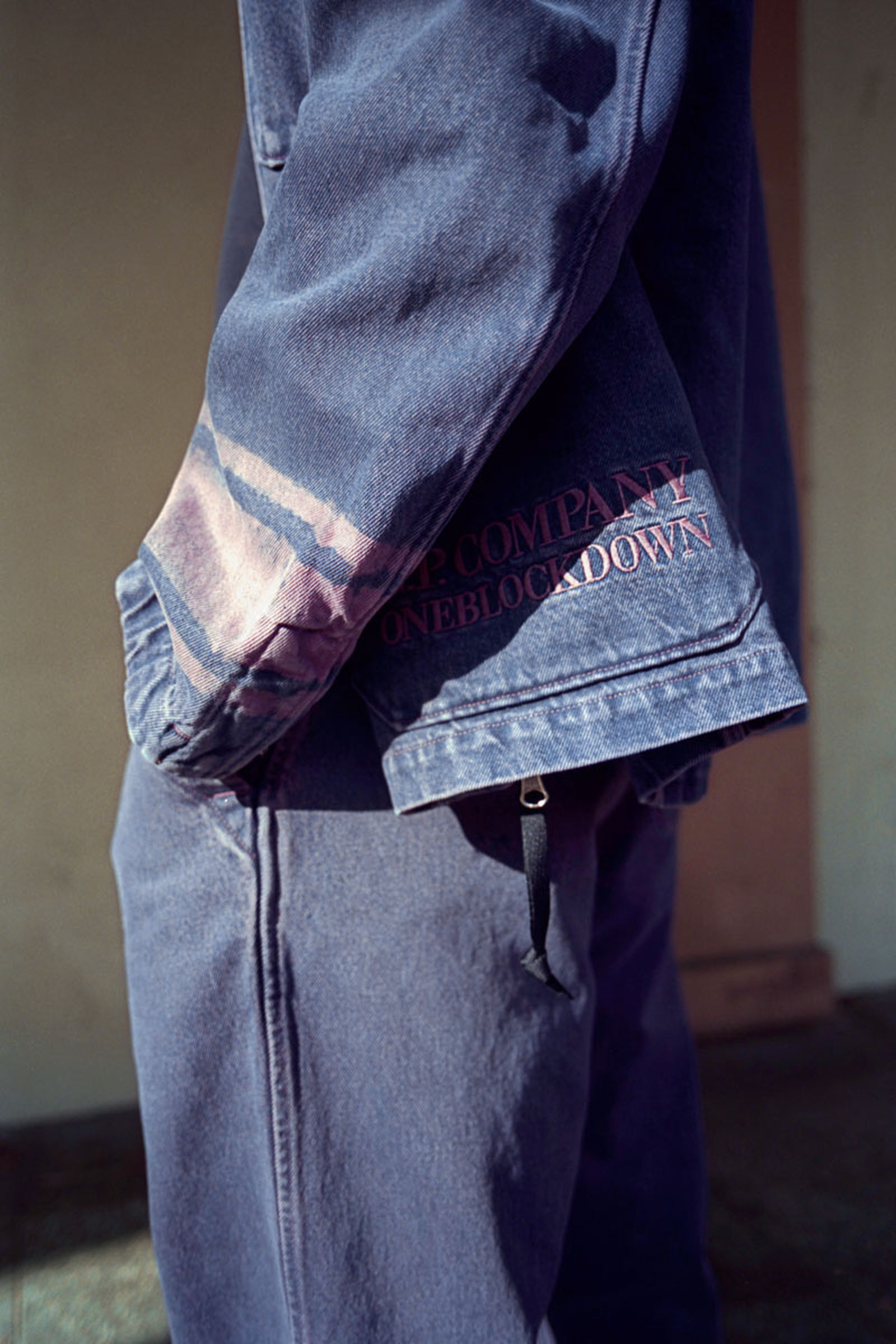 C.P. Company x One Block Down Goggle Jacket and Jeans Pink
