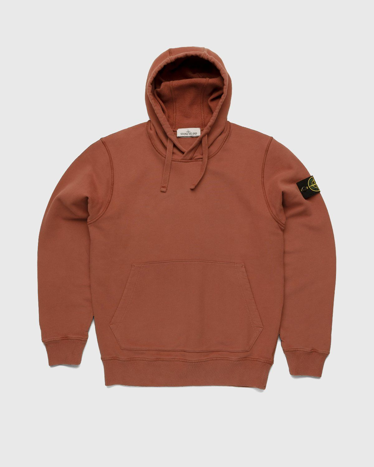 Stone Island – Dust Color Treatment Hoodie Brick Red - Image 1
