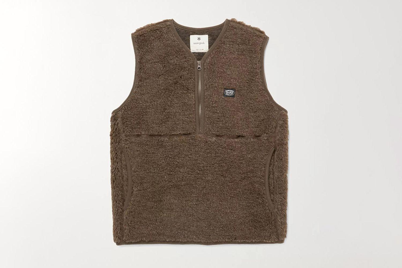 Wool-Fleece Half-Zip Gilet