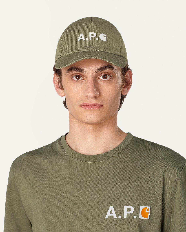 A.P.C. x Carhartt WIP - Cameron Baseball Cap Khaki - Image 2