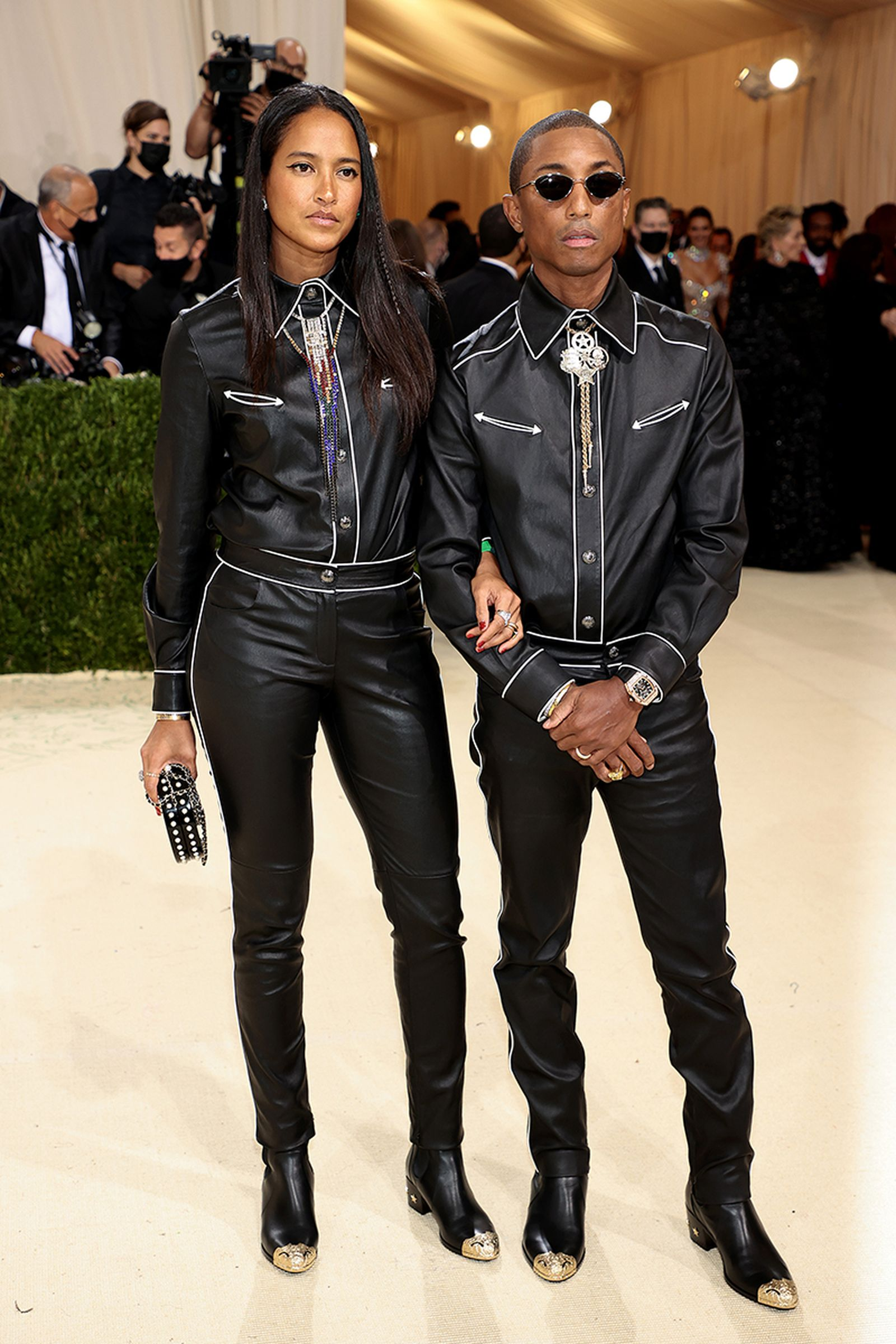 met gala 2021 celebrity style looks best outfits red carpet pharrell williams