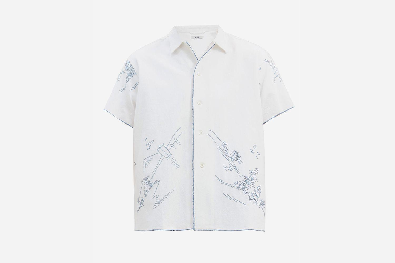 Mountain Tableau Bowling Shirt