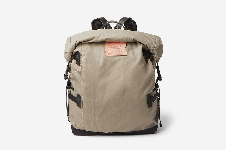 Basile Leather-Trimmed Backpack