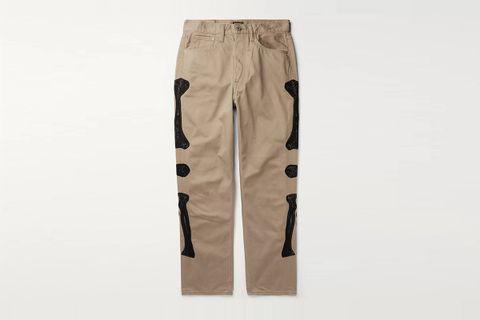Okagilly Appliquéd Denim Jeans