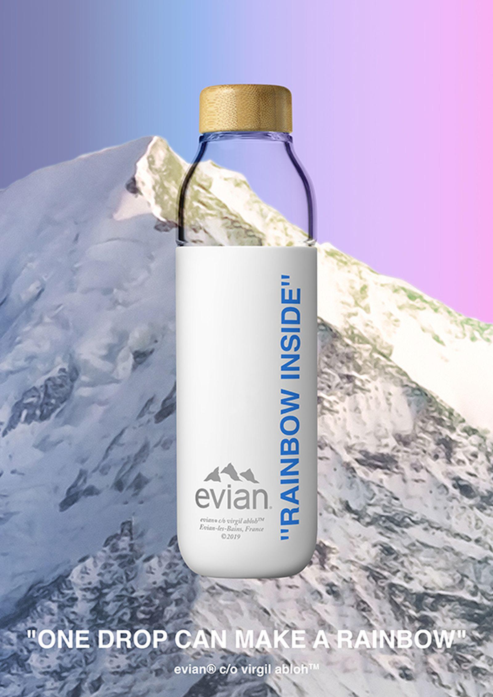 evian by virgil abloh water bottle soma