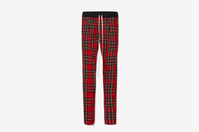 Plaid Wool Track Pants