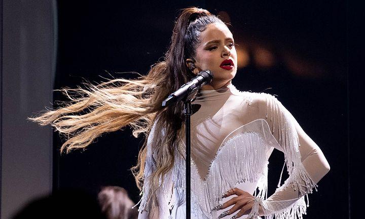 Rosalía performing