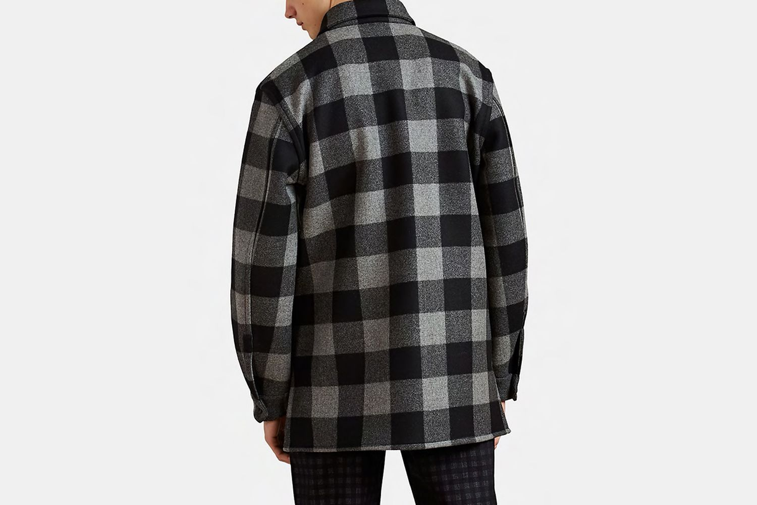 Plaid Flannel Shirt Jacket