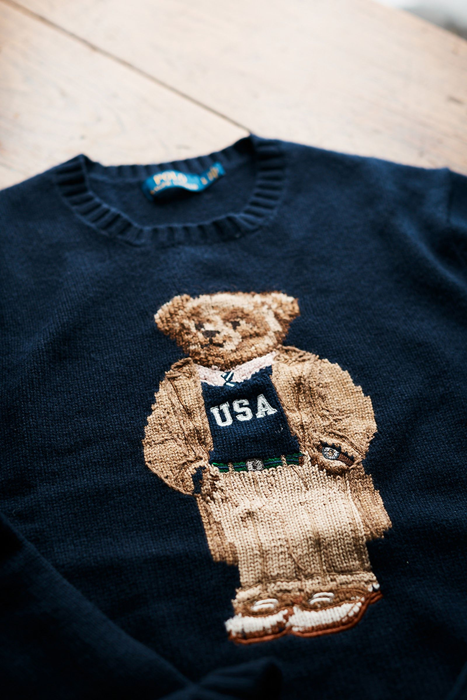 ralph lauren collegiate bear sweater Polo Bear