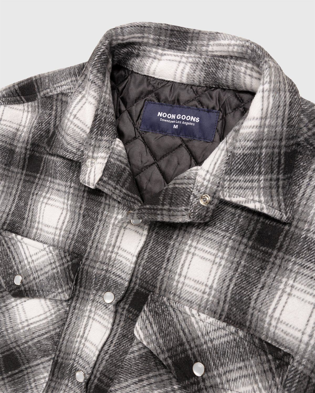 Noon Goons — Tahoe Quilted Flannel Grey - Image 3