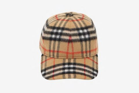 Vintage Check Baseball Hat