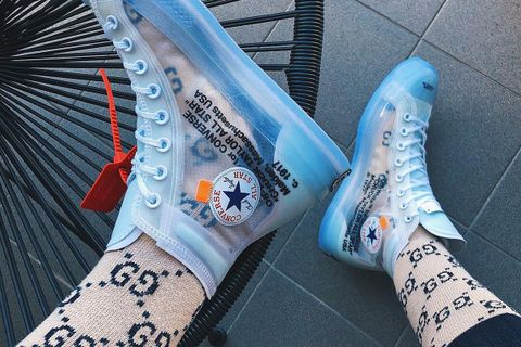 ab7fc08fab64 Here s How Instagram Is Wearing the OFF–WHITE x Converse Chuck Taylor