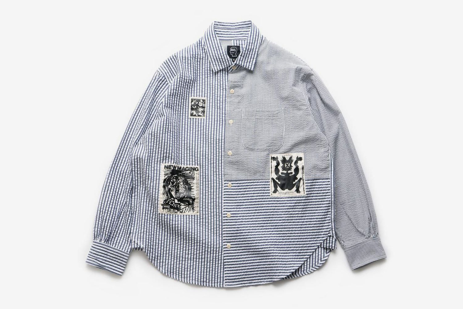 Paneled Button Up