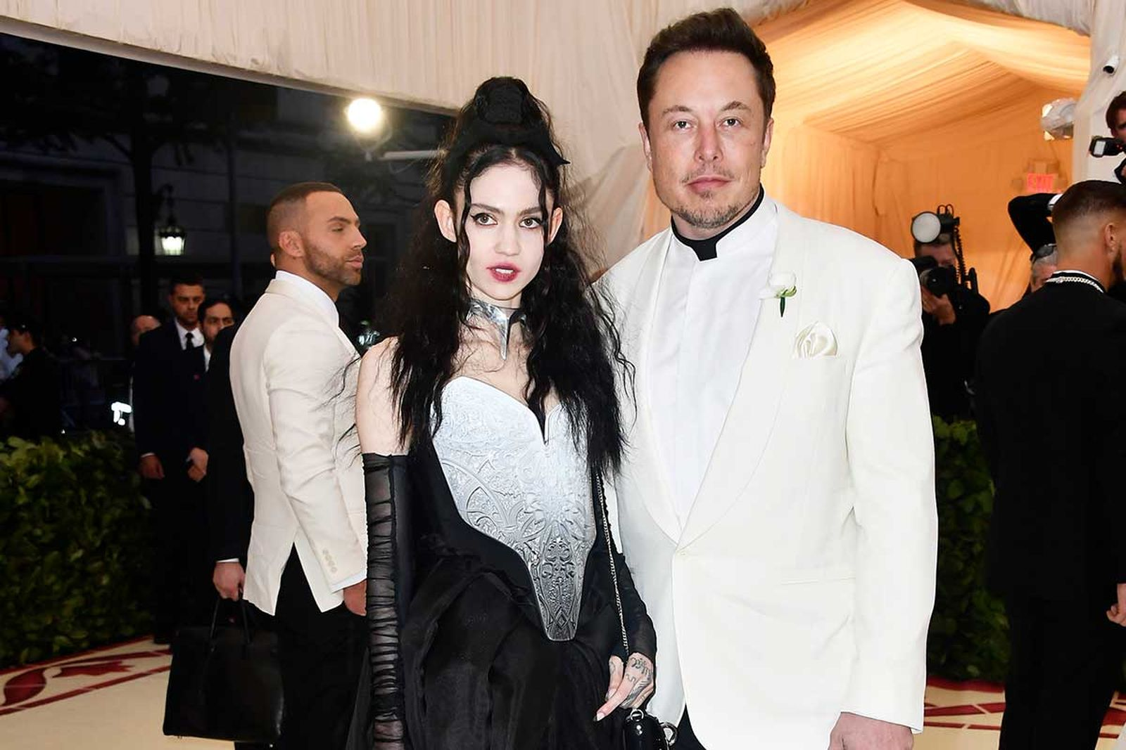 Grimes and Elon Musk at the MET Gala 2018