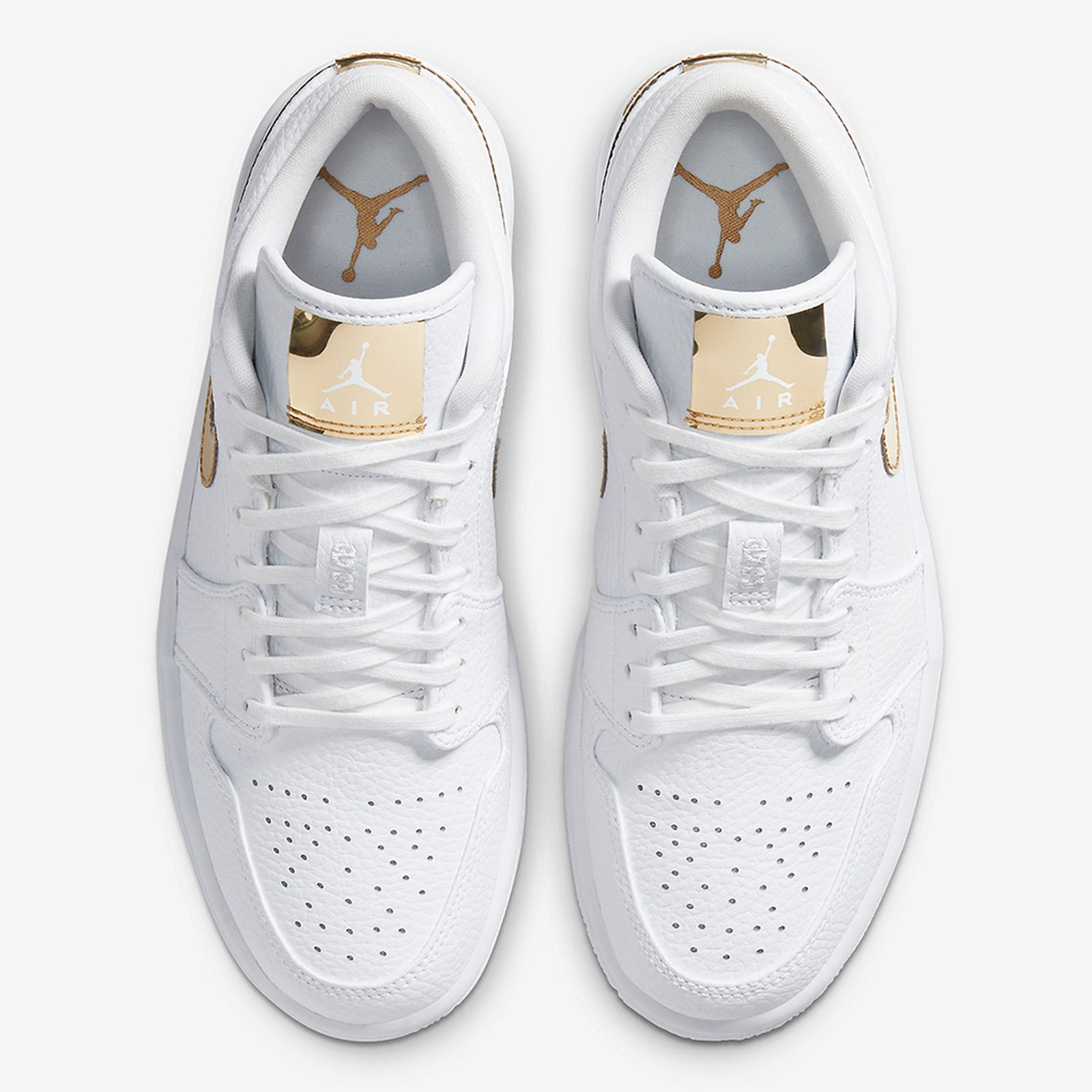 Nike Air Jordan 1 Low White/Metallic Gold