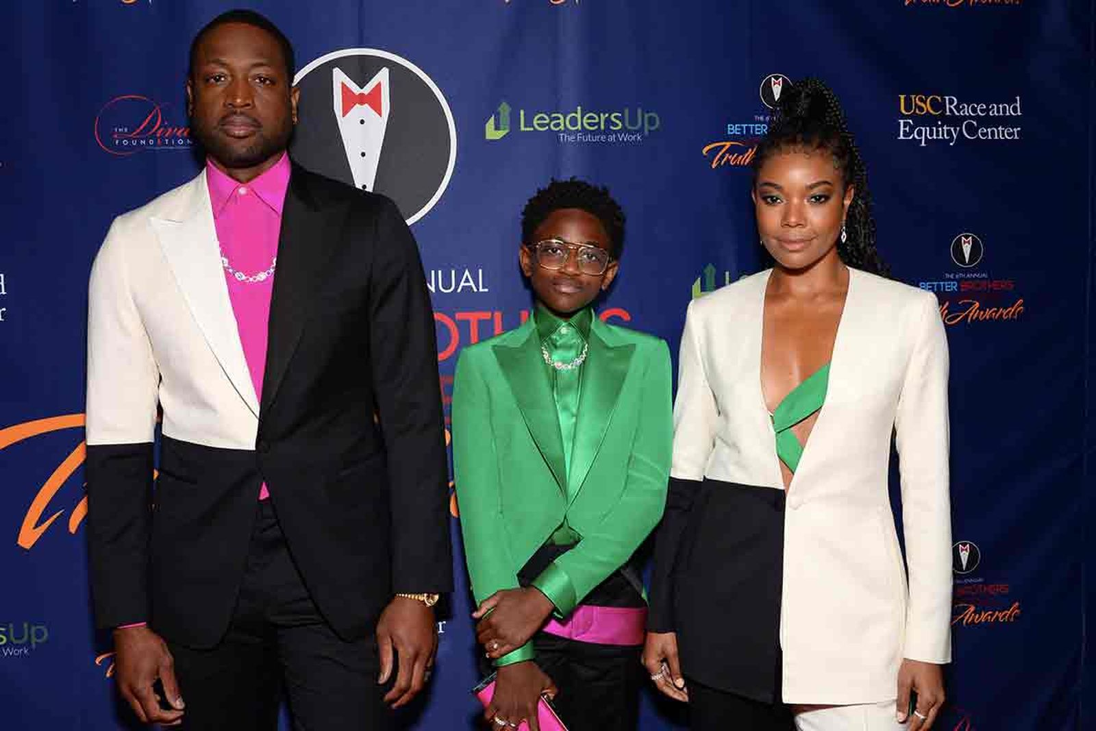 Dwyane Wade, Zaya Wade and Gabrielle Union attend the Better Brothers Los Angeles