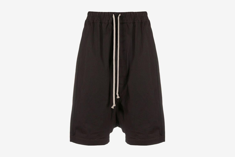 Drop Crotch Drawstring Shorts