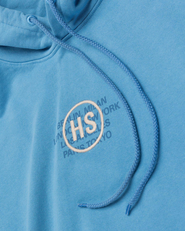 Highsnobiety – Logo Hoodie Blue - Image 3