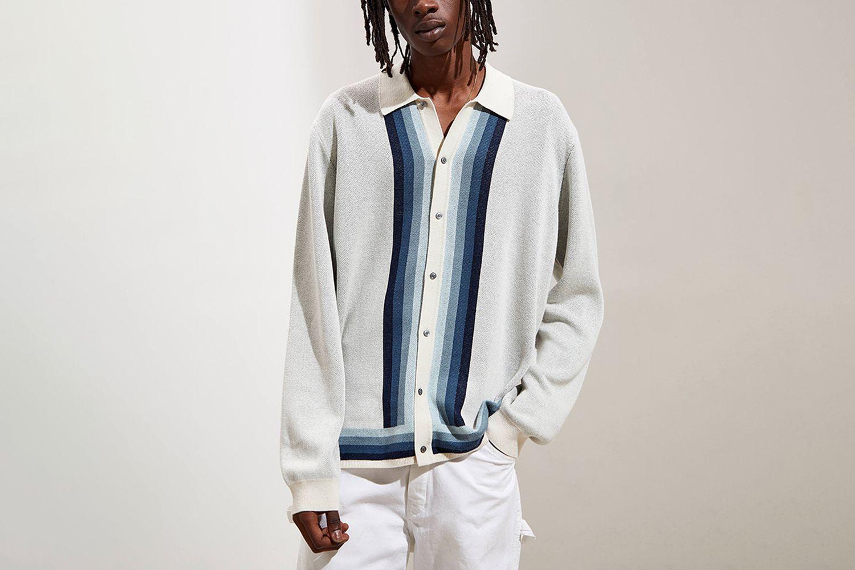 Lightweight Polo Cardigan