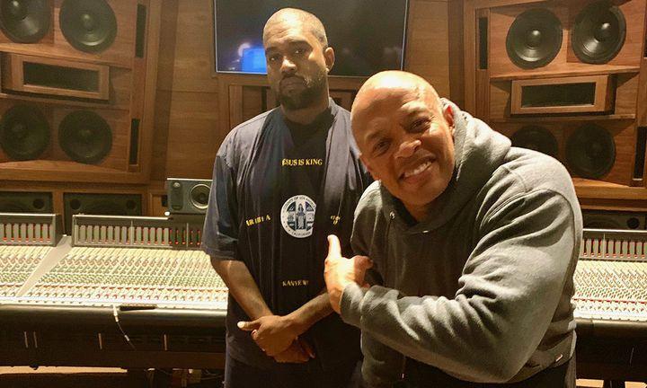 Kanye West Dr. Dre recording studio