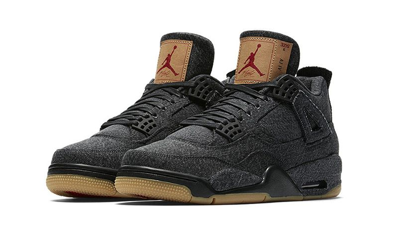 Here's How & Where to Buy the Levi's x Air Jordan IV in Black