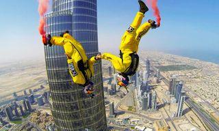French Duo Sets Highest Base Jump Record from Dubai's Burj Khalifa