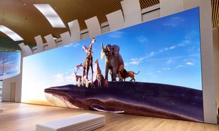 Sony Unveils 63-Foot-Tall 16K Screen in Japan