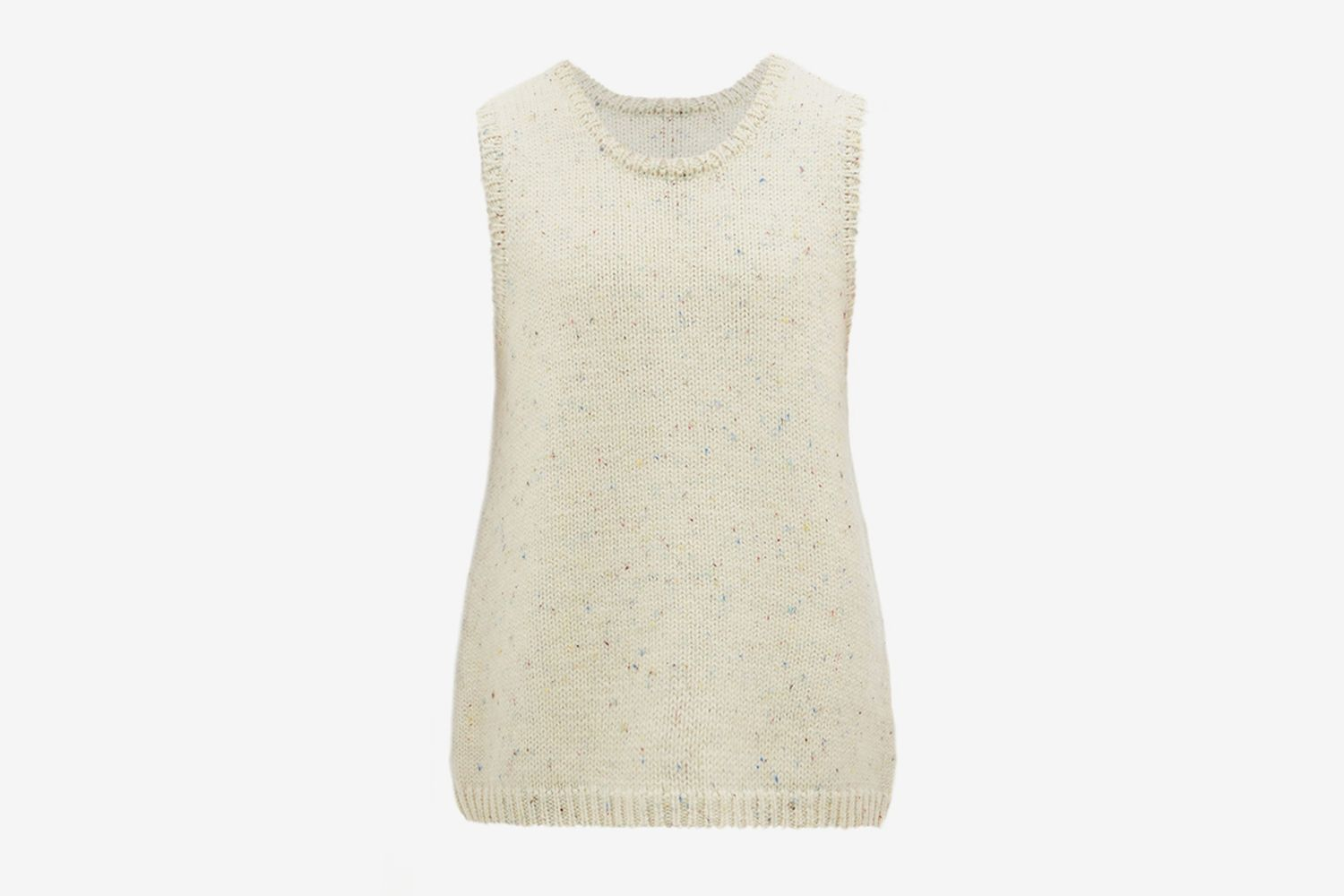 Melange Wool Sleeveless Sweater