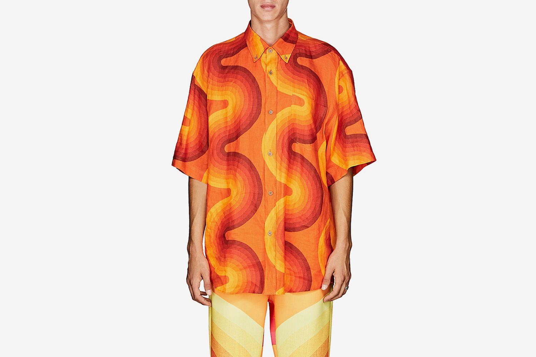 Wave-Print Shirt