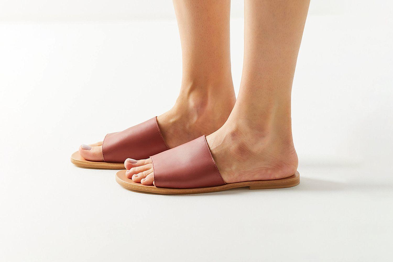 Soft Leather Slide Sandal