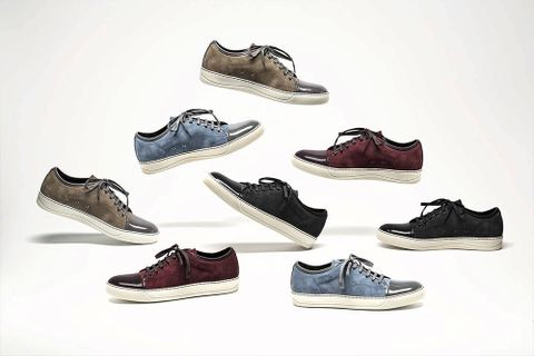 82cfda27bf772 French luxury brand Lanvin has become a strong player in the high-end fashion  sneaker market. Continuously the brand reinvents its low top and high top  ...
